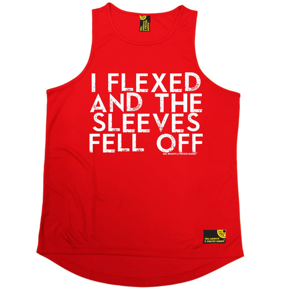 I Flexed And The Sleeves Fell Off Performance Training Cool Vest