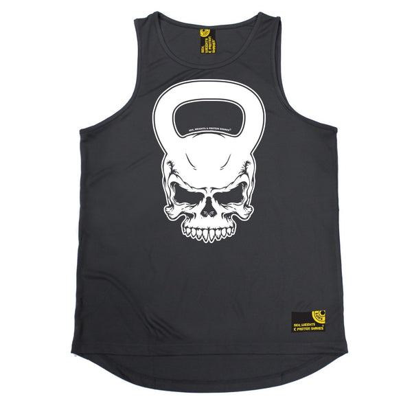 SWPS Kettlebell Skull Sex Weights And Protein Shakes Gym Men's Training Vest