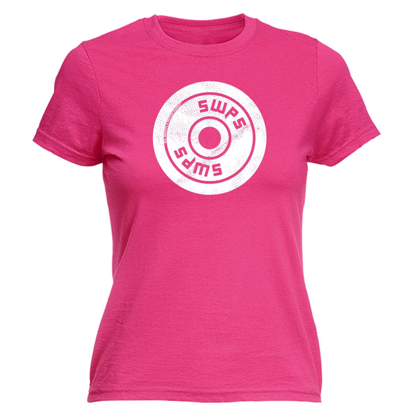 123t SWPS Women's SWPS SWPS ... WEIGHT PLATE DESIGN - FITTED T-SHIRT