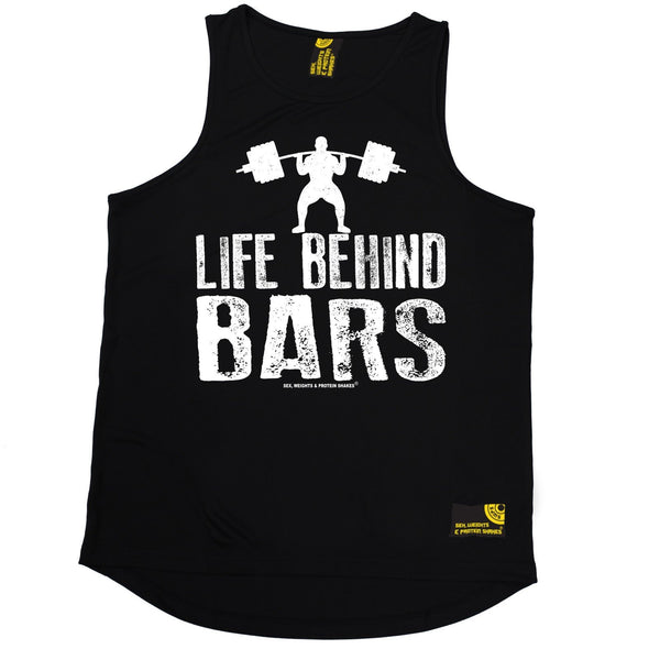 SWPS Life Behind Bars Weight Lifting Sex Weights And Protein Shakes Gym Men's Training Vest