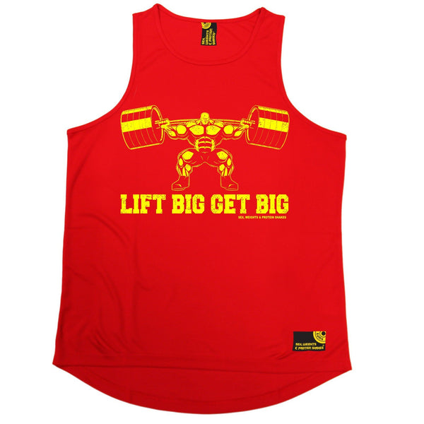 SWPS Lift Big Get Big Sex Weights And Protein Shakes Gym Men's Training Vest