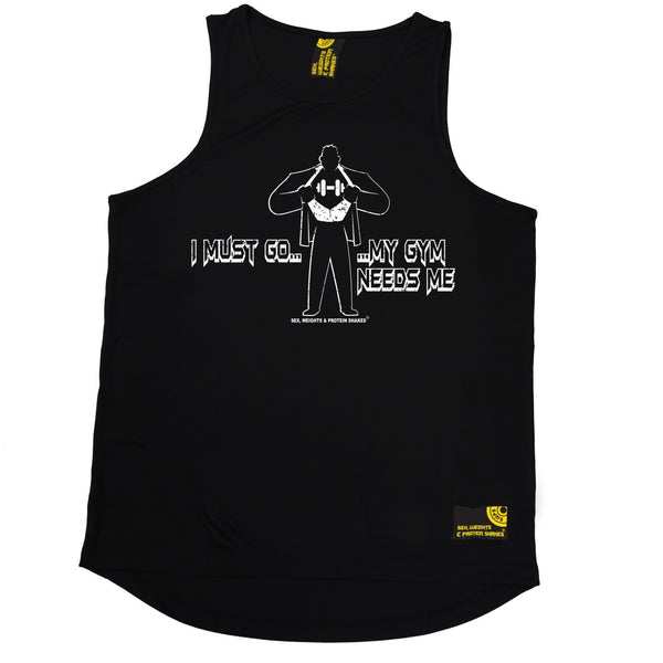 I Must Go ... My Gym Needs Me Performance Training Cool Vest