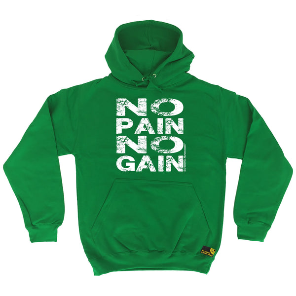 Sex Weights and Protein Shakes GYM Training Body Building -   No Pain No Gain - HOODIE - SWPS Fitness Gifts
