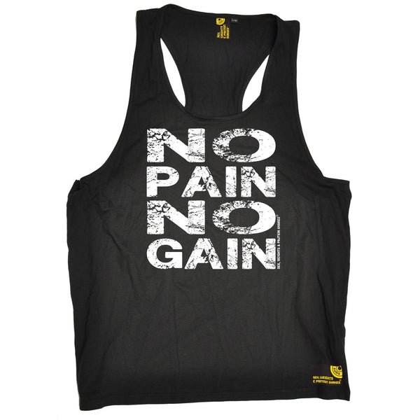 Sex Weights and Protein Shakes No Pain No Gain Sex Weights And Protein Shakes Gym Men's Tank Top