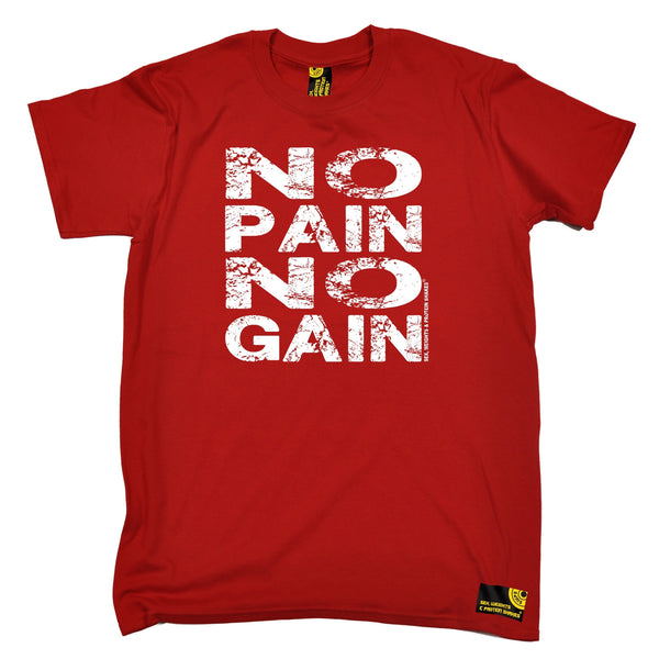 Sex Weights and Protein Shakes GYM Training Body Building -  Men's No Pain No Gain T-SHIRT - SWPS Fitness Gifts
