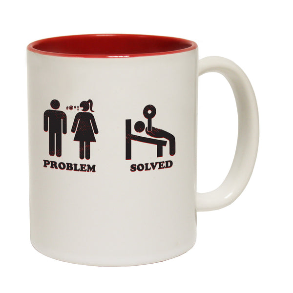 Problem Solved ... Gym Ceramic Slogan Cup