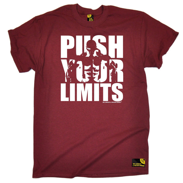 Sex Weights and Protein Shakes Men's Push Your Limits Sex Weights And Protein Shakes Gym T-Shirt