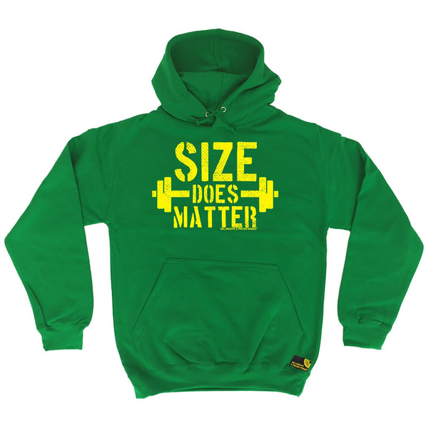 Sex Weights and Protein Shakes Size Does Matter Sex Weights And Protein Shakes Gym Hoodie