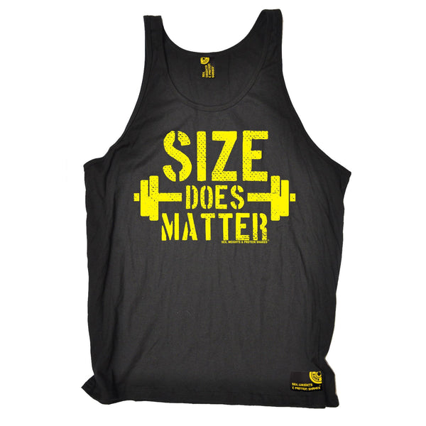 Sex Weights and Protein Shakes Size Does Matter Sex Weights And Protein Shakes Gym Vest Top