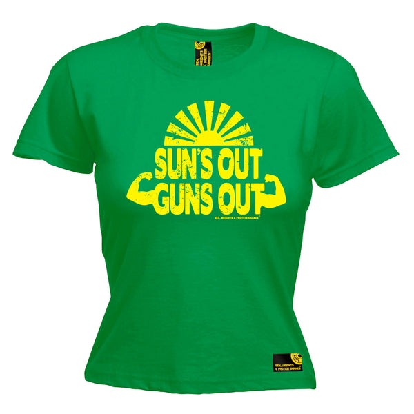 Suns Out Guns Out Women's Fitted T-Shirt