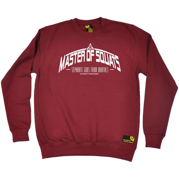 Sex Weights and Protein Shakes - Master Of Squats - Gym SWEATSHIRT