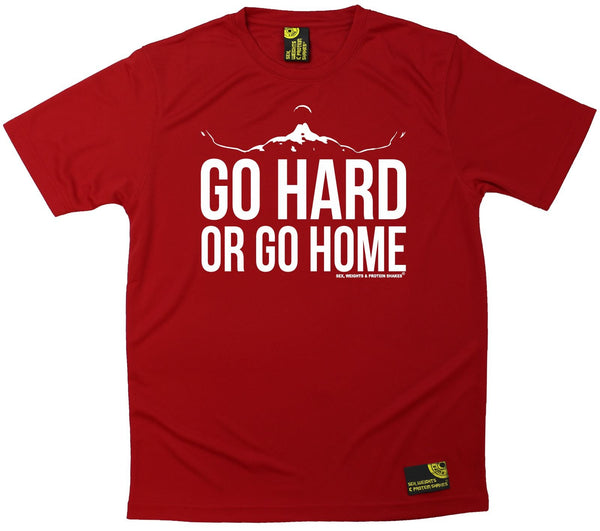 Men's Sex Weights and Protein Shakes - Go Hard Or Go Home - Dry Fit Breathable Sports T-SHIRT