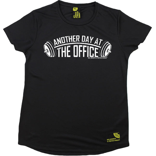 Women's SWPS - Another Day In The Office - Dry Fit Breathable Sports R NECK T-SHIRT