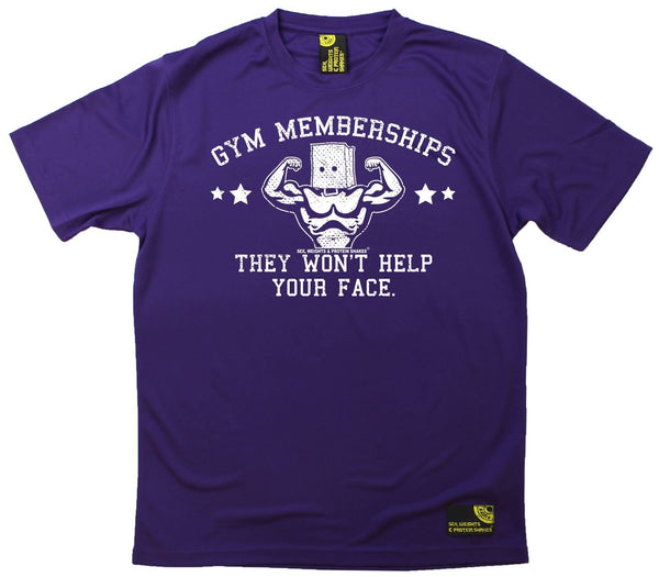 Men's SWPS - Gym Membership Wont Help Your Face - Dry Fit Breathable Sports T-SHIRT