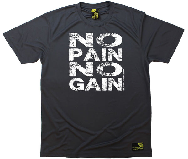 Men's Sex Weights and Protein Shakes - No Pain No Gain - Premium Dry Fit Breathable Sports T-SHIRT