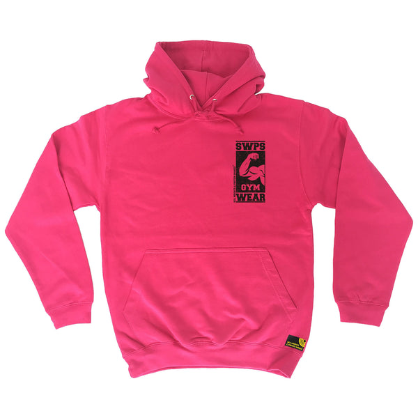 Gym Wear ... Breast Pocket Black Design Hoodie