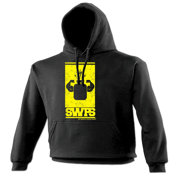 123t SWPS Unisex Men's Women's FLEXING ARMS PROTEIN DESIGN - HOODIE