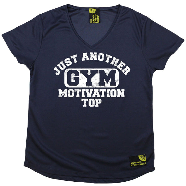 Women's SWPS - Just Another Gym Motivation Top - Dry Fit Breathable Sports V-Neck T-SHIRT