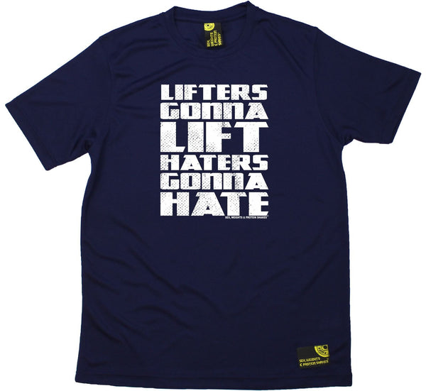 Men's Sex Weights and Protein Shakes - Lifters Gonna Lift - Dry Fit Breathable Sports T-SHIRT