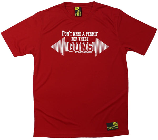 Men's SWPS - Dont Need A Permit For These Guns - Dry Fit Breathable Sports T-SHIRT