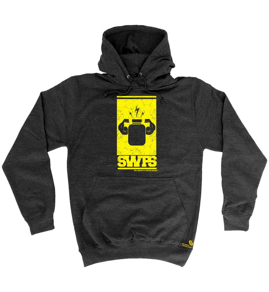 SWPS Protein Flexing Yellow Design Sex Weights And Protein Shakes Gym Hoodie
