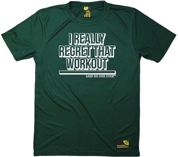 Men's SWPS - I Really Regret That Workout Said No One - Dry Fit Breathable Sports T-SHIRT