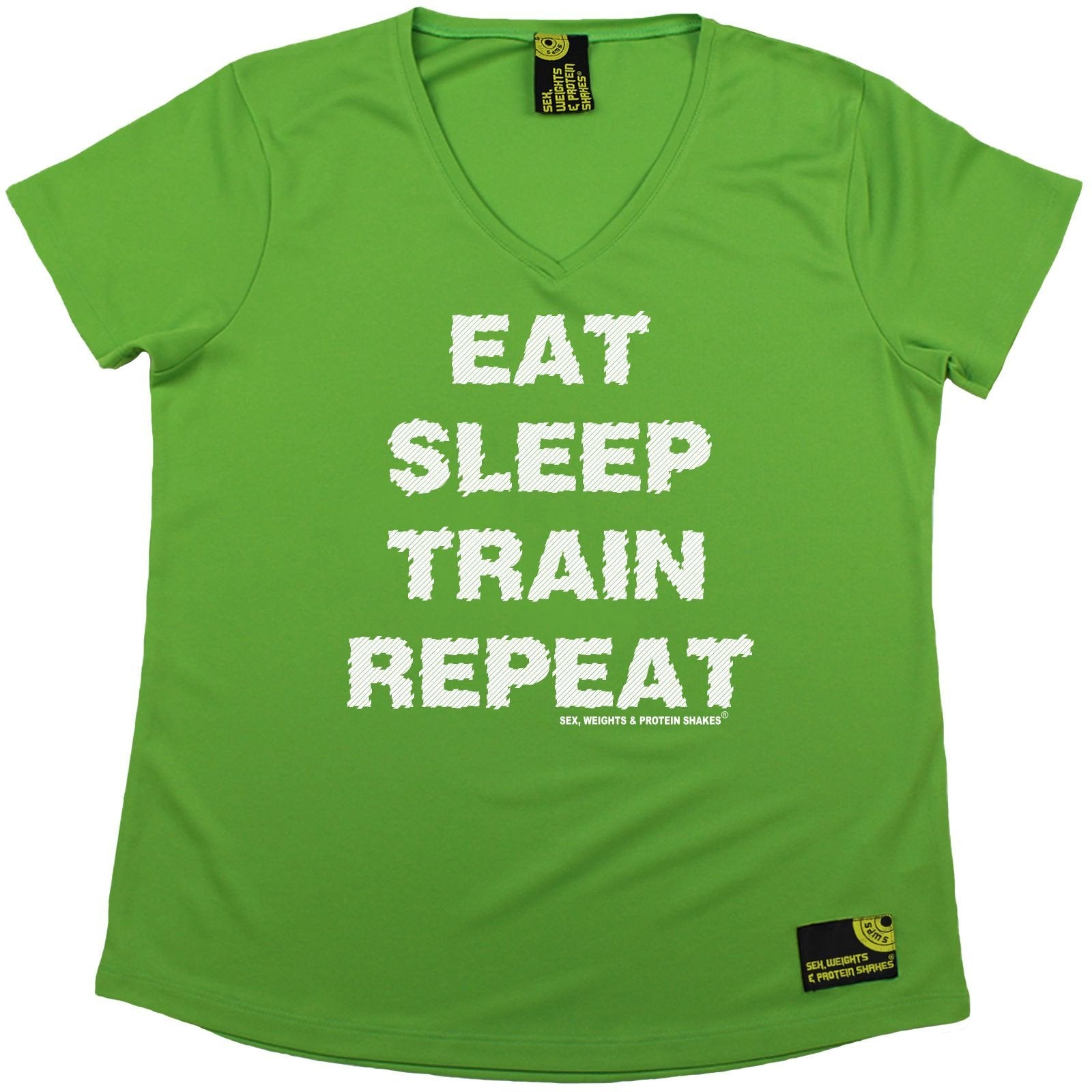 SWPS Eat Sleep Train Repeat Dry Fit Sports Round-neck t-shirt