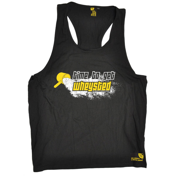 SWPS Time To Get Wheysted Sex Weights And Protein Shakes Gym Men's Tank Top