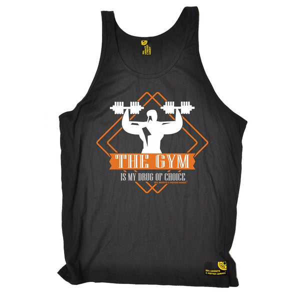 SWPS The Gym Is My Drug Of Choice Sex Weights And Protein Shakes Vest Top