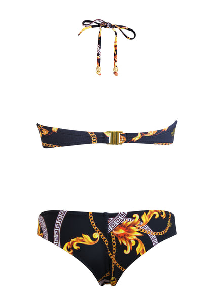 Baroque Surf Bandeau Top with Brazilian Bottom