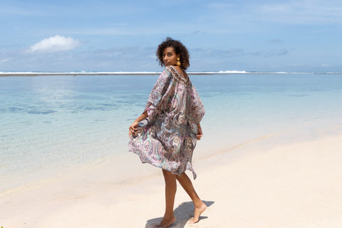 Maroon Bay Short Kaftan - Resort Collection