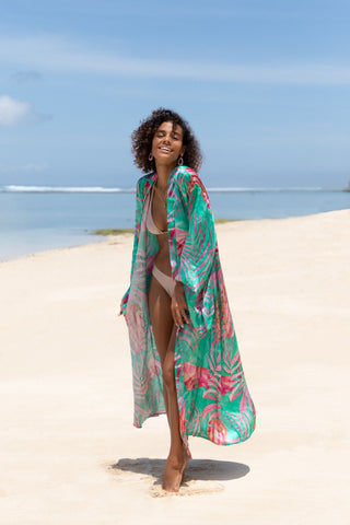 Frisco Long Kimono - Resort Collection