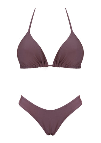 Maroon Sliding Triangle Top with Brazilian High Cut Bottom.