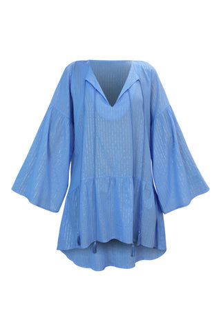 Emma Blue Tunic - Resort Collection