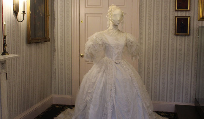 Miss Havisham's wedding dress arrives at Charles Dickens ...