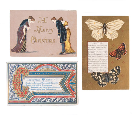 Christmas Cards on loan from Maggs Bros