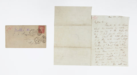 Manuscript letter from William Powell Frith