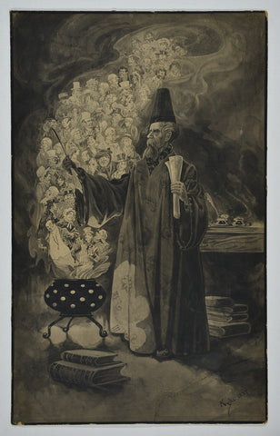 Object in focus: 'Dickens the Great Magician' by Kyd (Joseph Clayton Clarke)