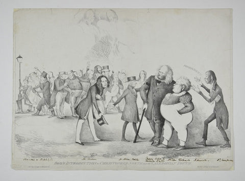 Object in focus: print of Dickens being received by the Edinburgh literati