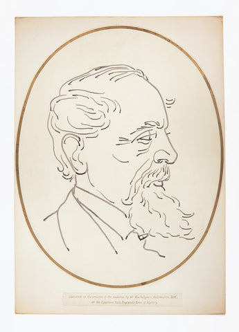 Object in focus: Drawing of Dickens by Mr Maskelyne's Automaton ZOE