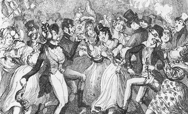 Greenwich Fair by Cruikshank