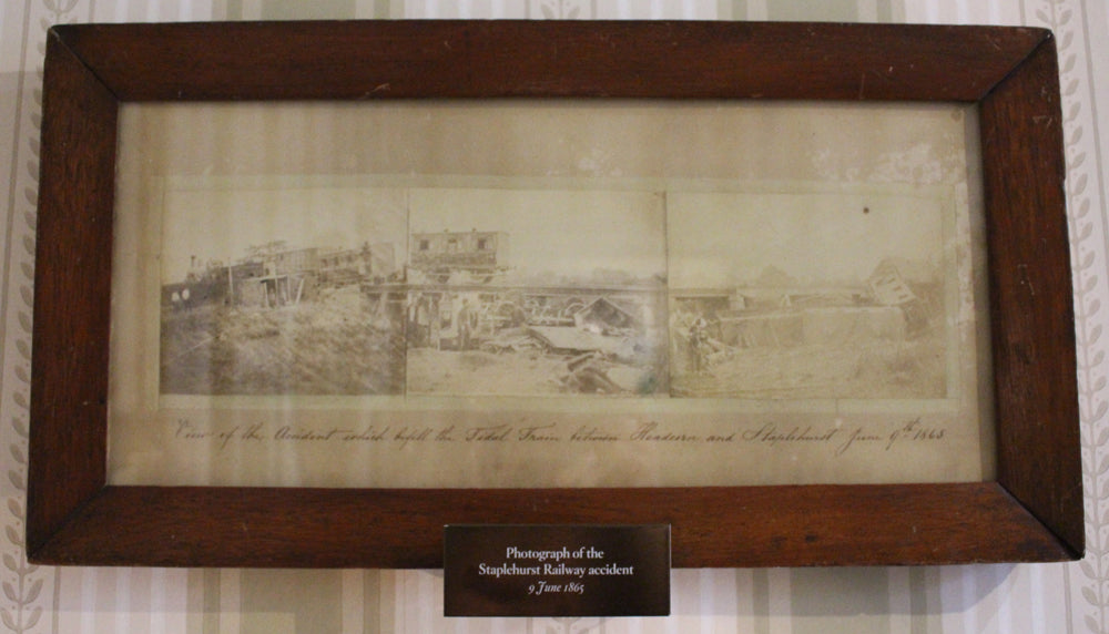 Facsimiles depicting the Staplehurst railway crash, located in the Mary Hogarth room. Charles Dickens Museum.