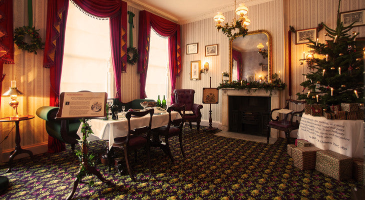 Drawing Room at Christmas in 48 Doughty Street