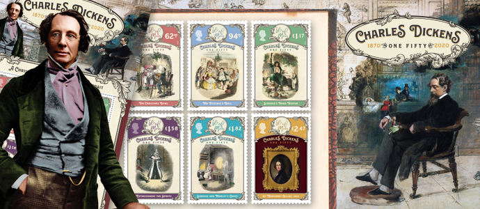 Dickens 150 Stamps