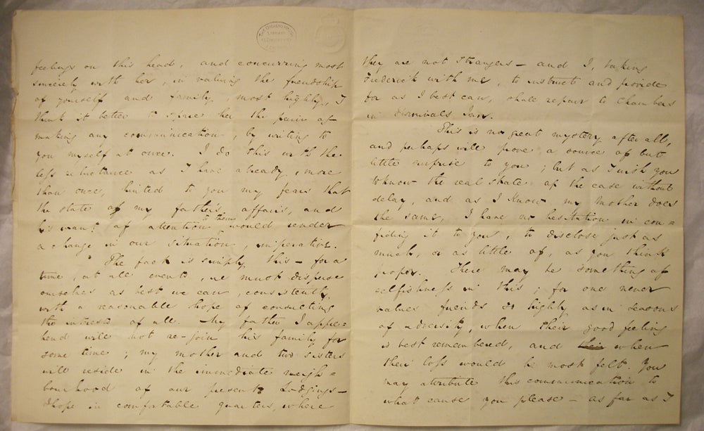 Letter Dickens to Beard 1834