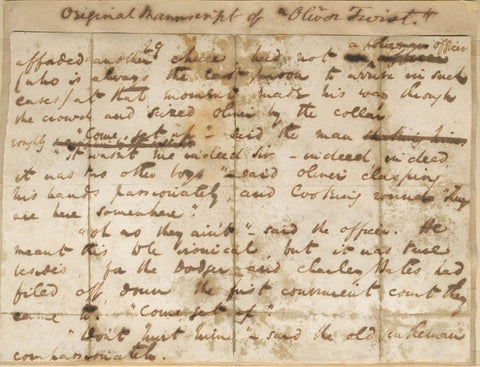 Manuscript page from 'Oliver Twist'