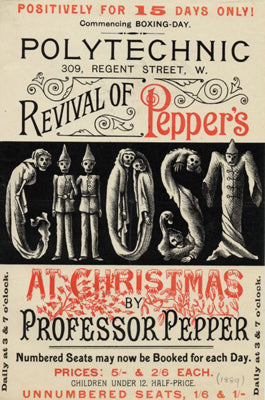 'Professor Pepper', a mid-nineteenth century magic trick that pairs Christmas with ghost stories, a tradition largely absent from festivities today