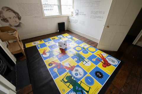 Image of giant Oliver Twist-themed board game at the Charles Dickens Museum