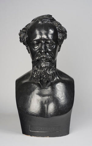 Plaster copy of a bust of Charles Dickens by Thomas Woolner, 1875