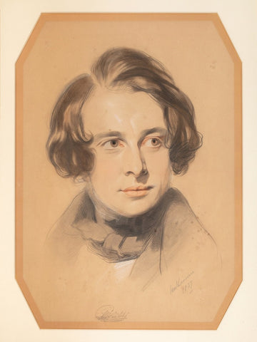 Portrait of Charles Dickens by Samuel Laurence